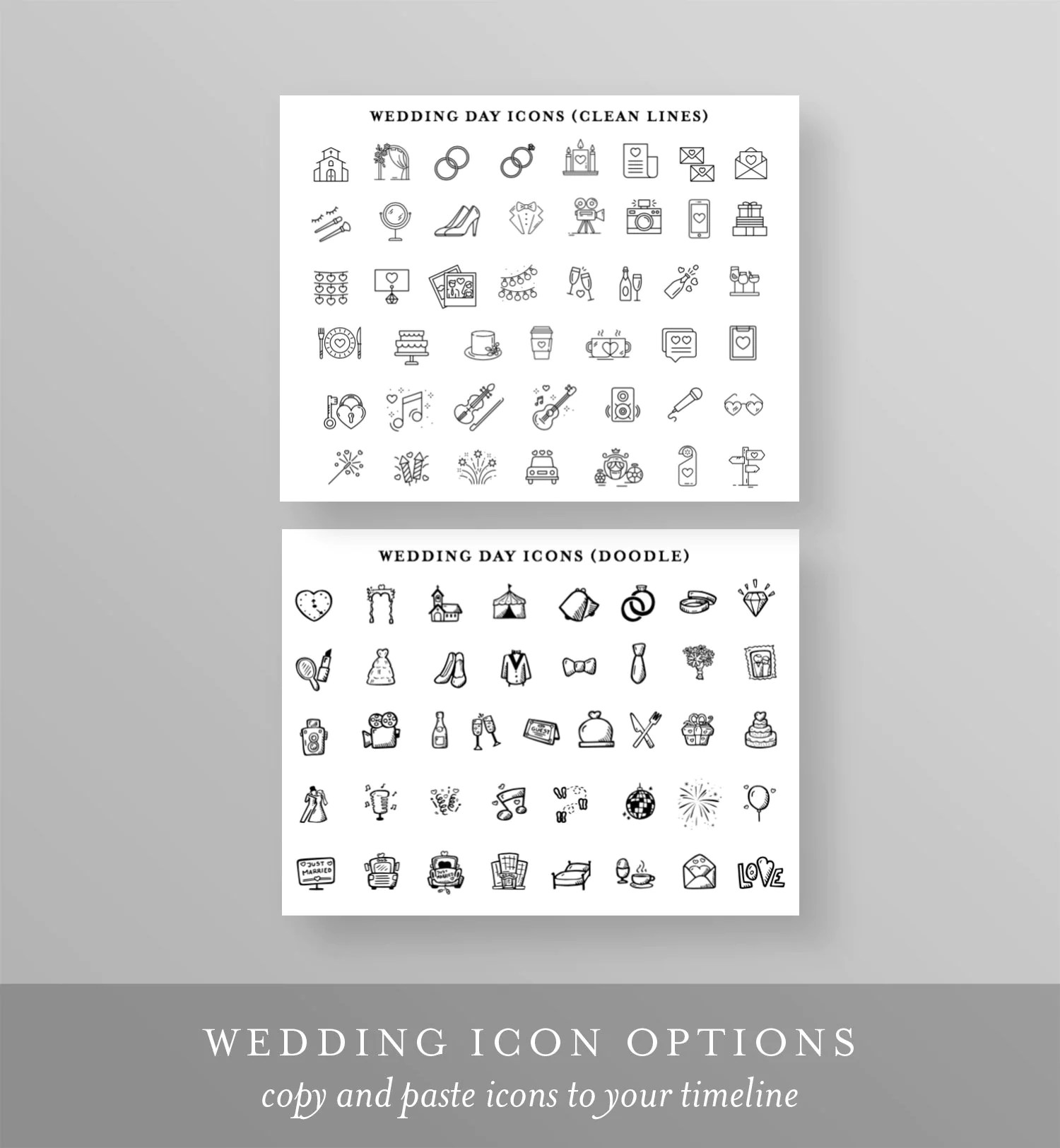 Wedding Day Timeline Card Itinerary Agenda Schedule