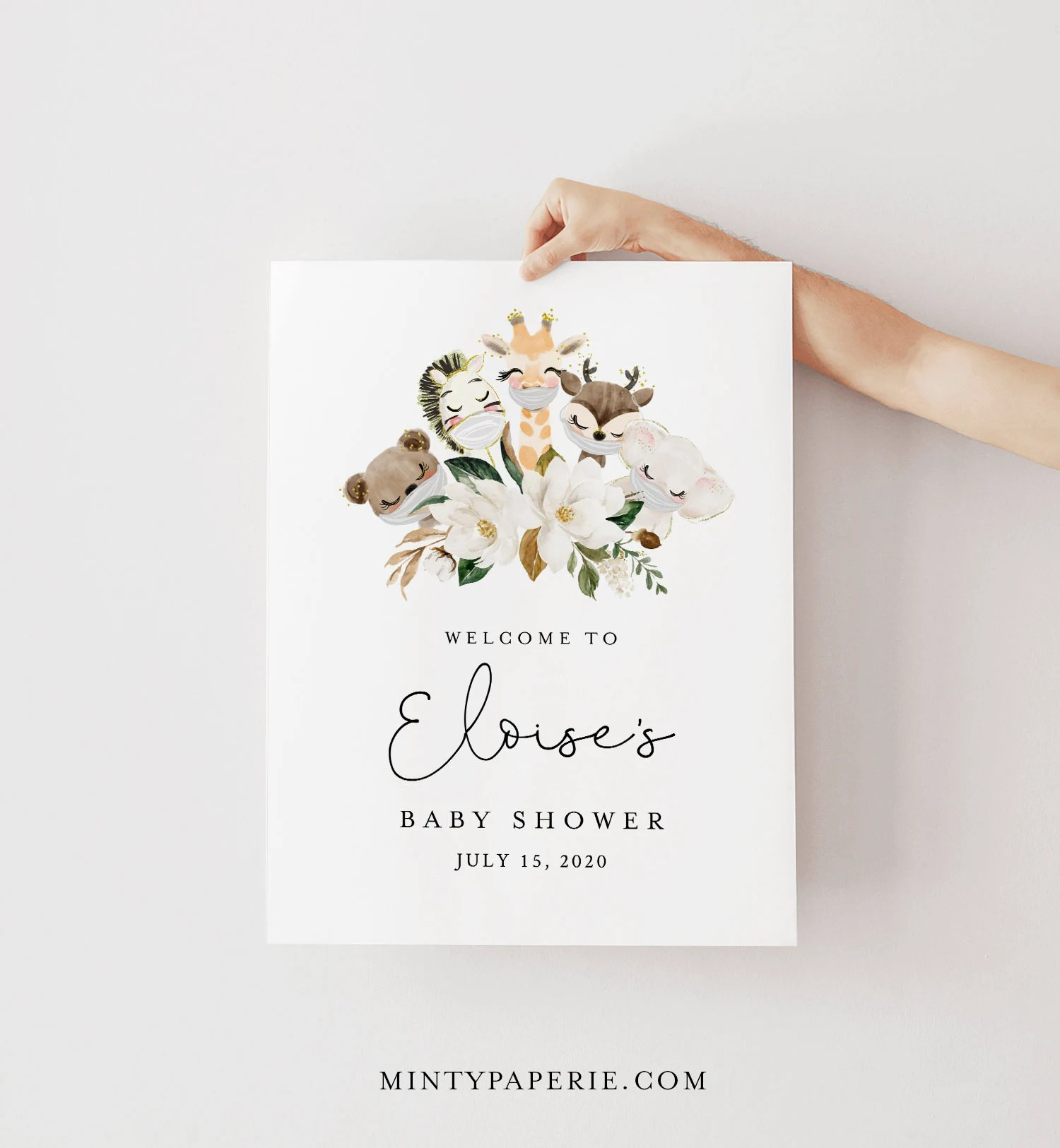 baby shower welcome sign template