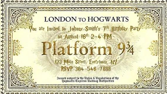3 Ticket Harry 4 Potter Platform Template 9