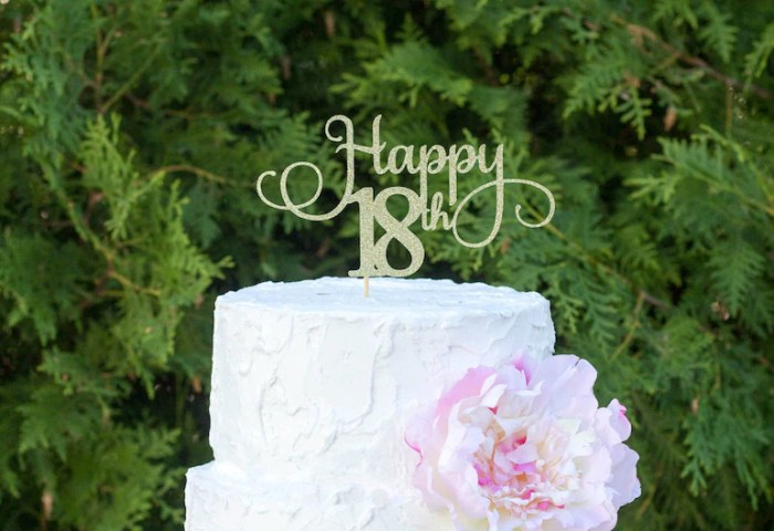 Eighteen Cake Topper 18 Birthday Decorations Girl Birthday Etsy