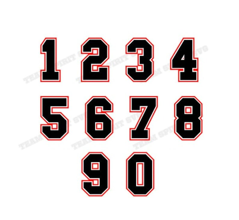 Download Jersey Numbers SVG Download File Sports DXF EPS png | Etsy