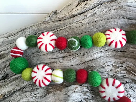 Peppermint Christmas Garland