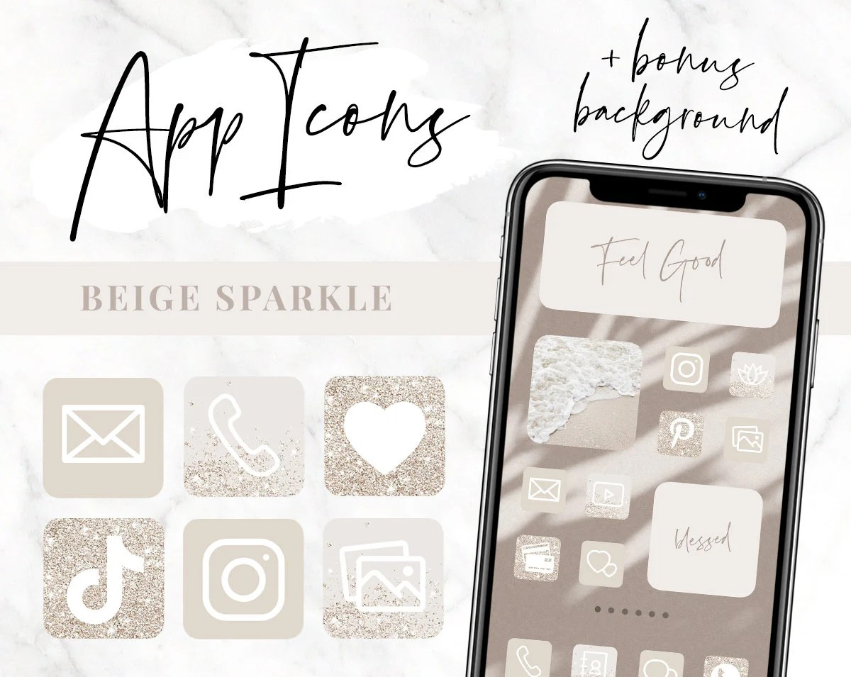 4for2 🖤 get 6 & pay for 3 🖤 add 6 products to your car… App Icons Neutral Beige IOS 14 Aesthetic Home Screen ...