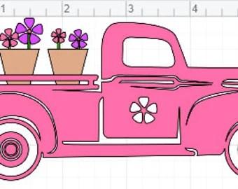 Download Flower truck svg | Etsy