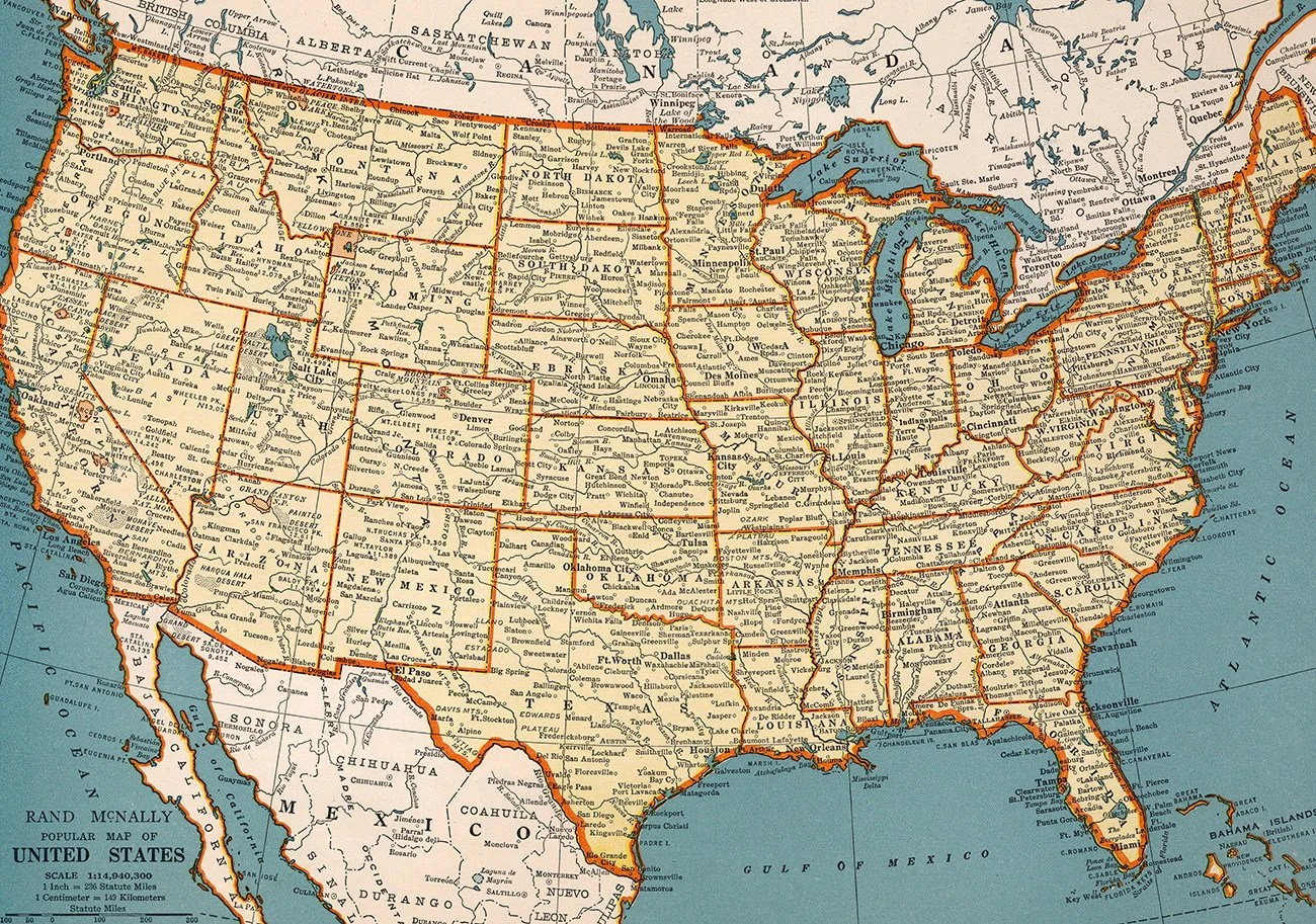 """You probably woke up this morning with big plans to """"really make some changes this year,"""" but you know what? Old Map Of United States Of America Digital Print Instant Etsy"""