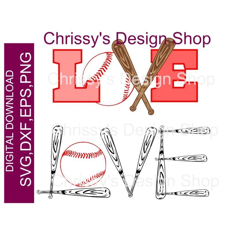 Download Love of baseball word art SVG Baseball bat and ball DXF ...