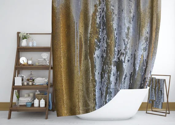 marble shower curtain ceramic style