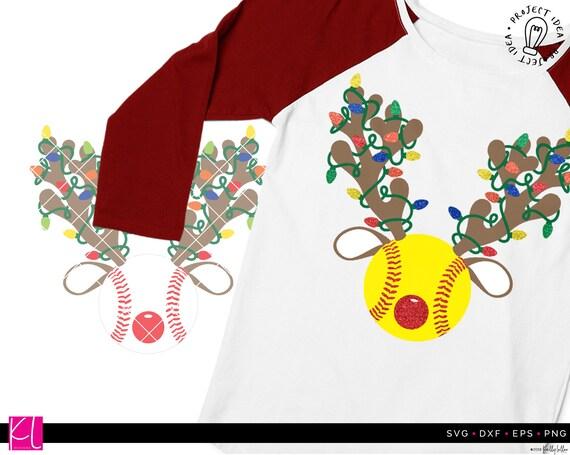Merry christmas svg, summer christmas svg, palm tree svg, flip flops s. Christmas Baseball And Softball Reindeer Svg Cut Files Etsy