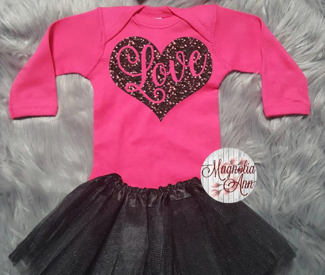 Love Heart Valentines Outfit Toddler Valentines Day Outfit Baby Girl Valentines Outfit Babys Valentine Onesie Babies St Valentines Day