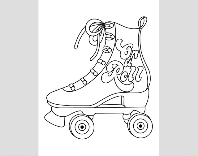 Roller Skate Coloring Page