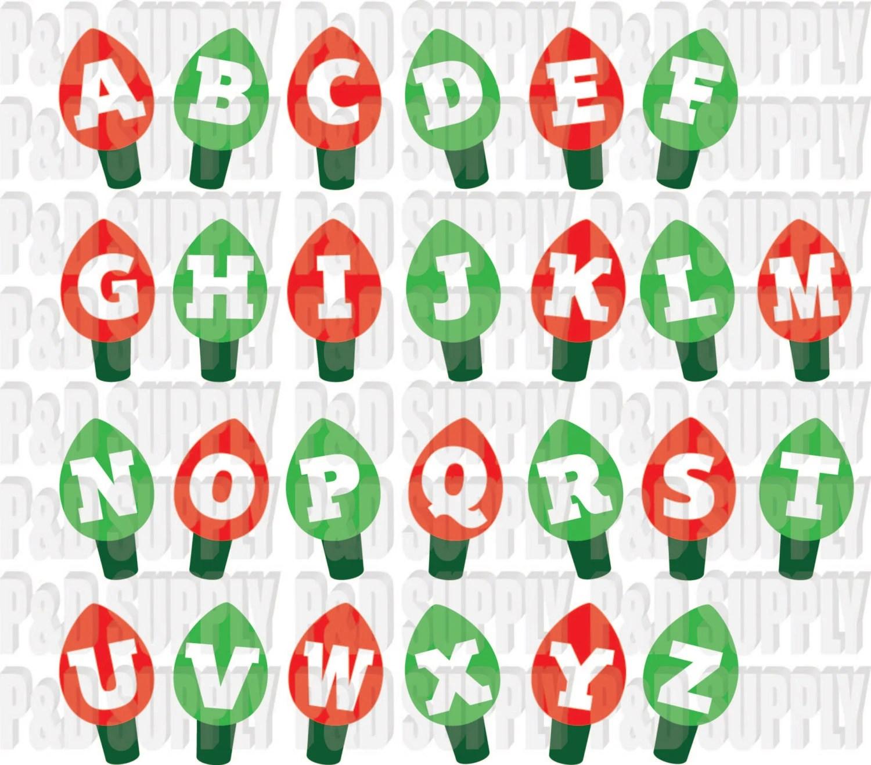 Christmas Lights Alphabet Christmas Letters Christmas