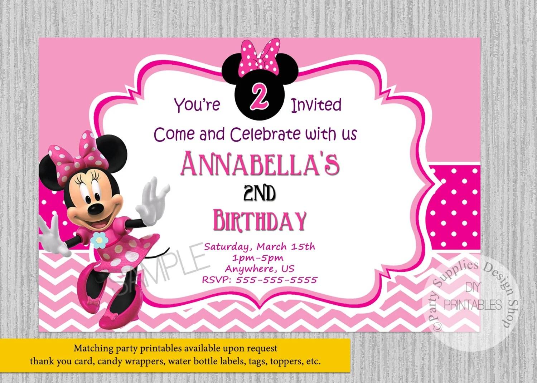 Minnie Para Mouse Invitaciones Baby Shower De Como Hacer