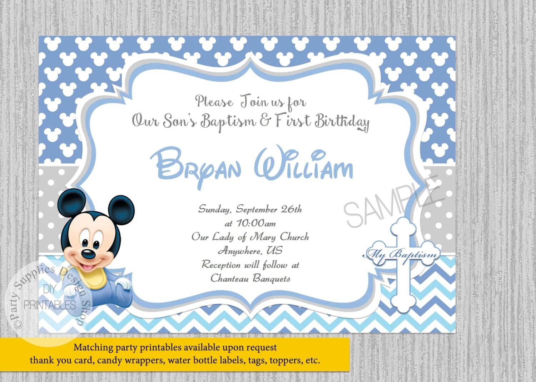Digital Baptism Invitations