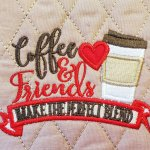 Embroidered Coffee Mug Rug Made From Kimberbell Holiday Seasonal Mug Rugs Vol 1 Snack Mat Coaster Candle Mat Ready To Ship