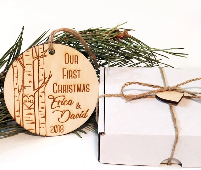 Personalized Our First Christmas Ornament Our First Christmas Just Married Ornament Newlywed Ornament Mr And Mrs Ornament Christmas