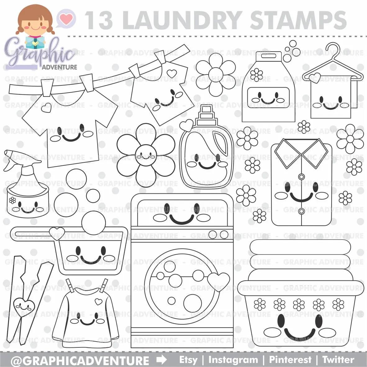 Laundry Stamp Commercial Use Digi Stamp Digital Image