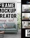 Interior Mockup Bundle Frame Mockup Creator All Image Size Etsy