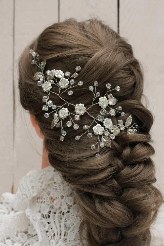 crystal hairpiece wedding hair vine hair jewelry accessories bridal hair vine prom hair accessories hair piece wedding wreath flower vine