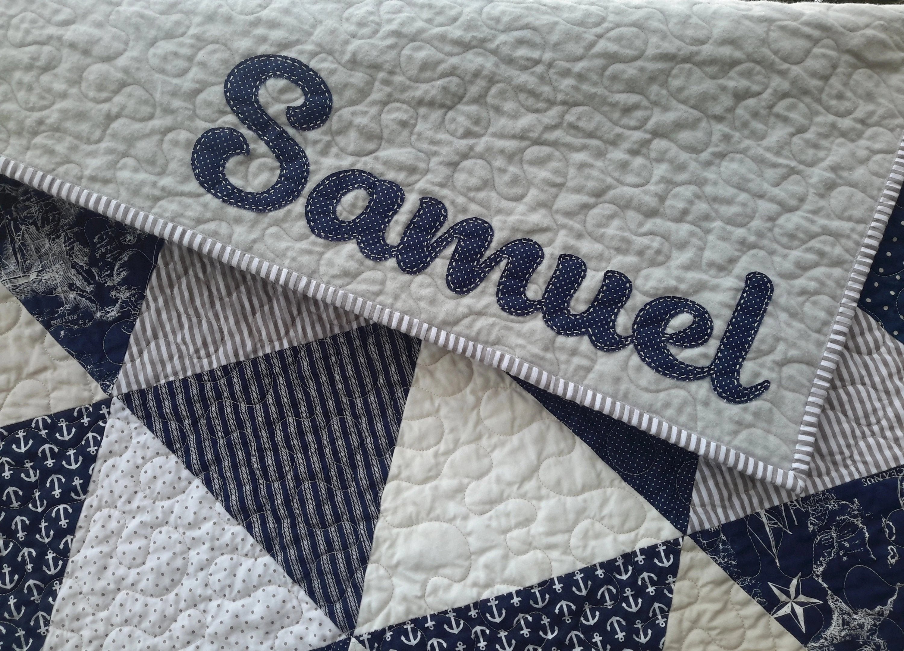 Quilt Personalization Add On  Add a Custom Name to the image 5