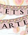 Lets Partea Banner Bridal Tea Party Banner Girls Gathering Etsy