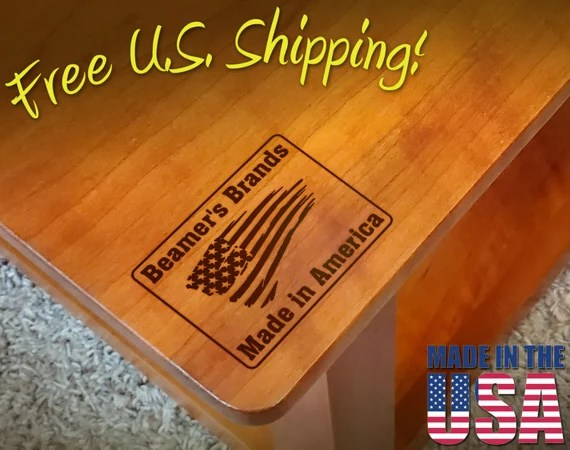 "Branding Iron - 2"" x 1.5"" Custom Text ""Made in America"" with American Flag for Wood"