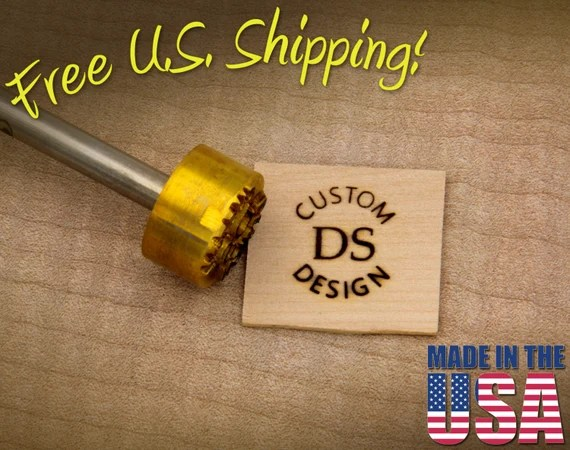 "Branding Iron - 1"" Round Custom Text w/Initials for Wood"