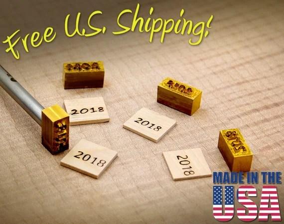 Branding Iron - Custom Year WITH Handle - For Wood
