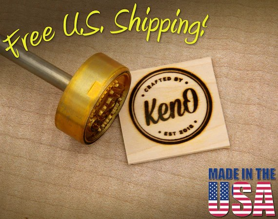 "Branding Iron - 1.5"" Round Custom Artwork for Wood"