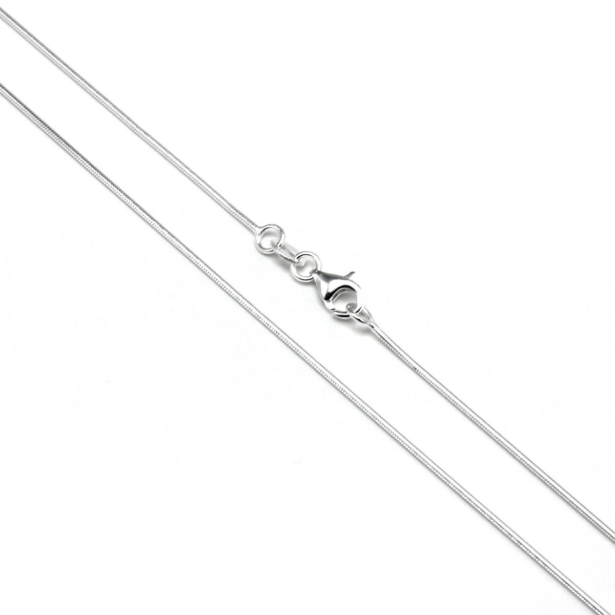1mm Snake Chain 14 16 18 20 22 24 28 32 Inches Sterling Silver