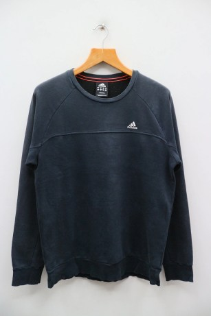 Vintage ADIDAS Small Spell Small Logo Sportswear Blue Pullover image 0
