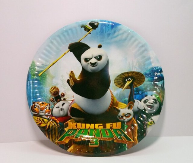 Kung Fu Panda Party Supplies Panda Po Plates Set Of  Dessert Plates