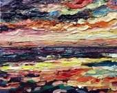 Autumn sunset seascape