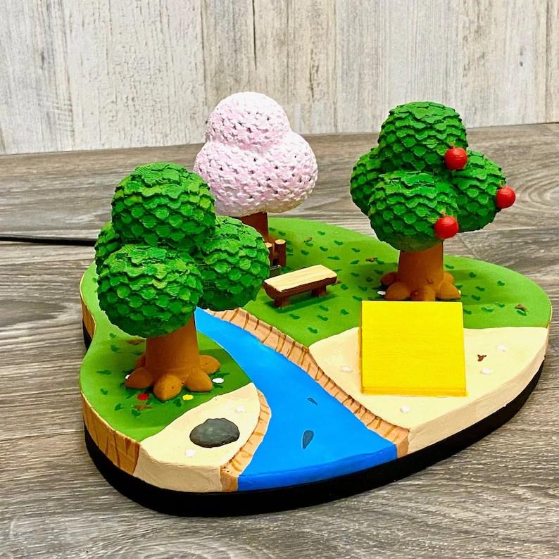 Nintendo Switch Animal Crossing Island Dock 3D Print New Spring