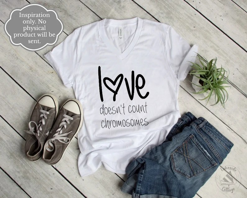 Download Love Doesn't Count Chromosomes Digital File Down   Etsy