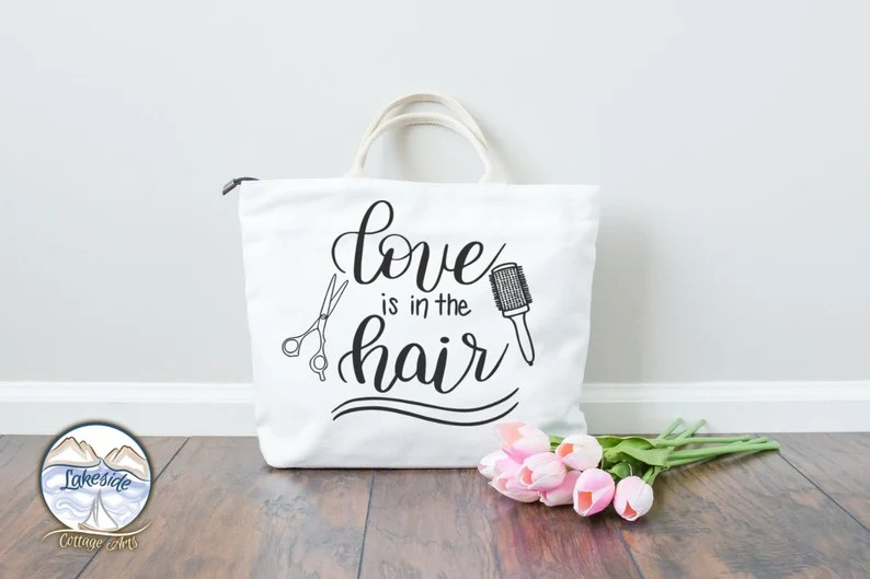 Download Love is in the Hair Hair Stylist design dxf eps svg png ...