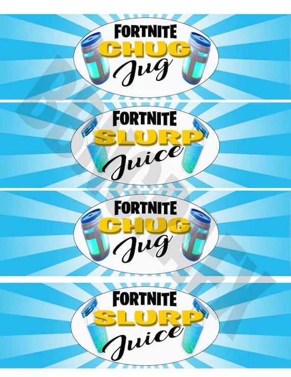 Fortnite Slurp Juice Label Free Printables