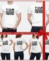 Men Women T Shirt Mock Up Bundle 6 Poses Models Mock Up Etsy