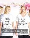 Plus Size T Shirt Mockup Ladies Women T Shirt Mock Up Psd Etsy