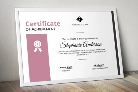 Modern colourful corporate business certificate template for   Etsy image 0