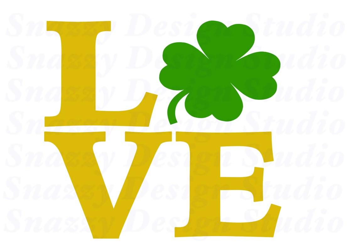 Download Love 4 leaf clover svg Cutting File Shamrock svg St | Etsy