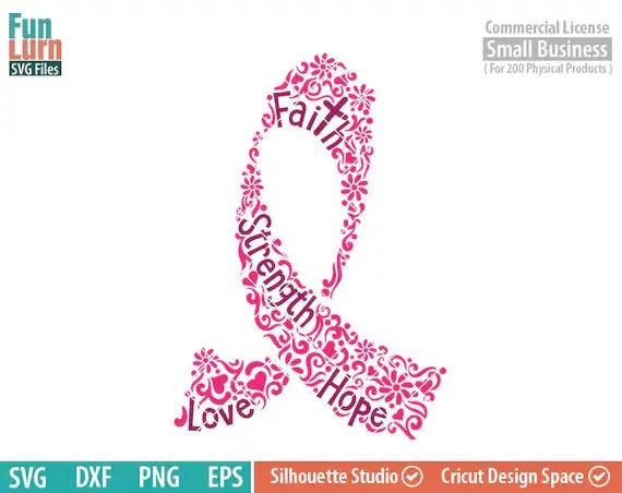 Download Breast Cancer Awareness SVG flowers ornate ribbon Hope   Etsy