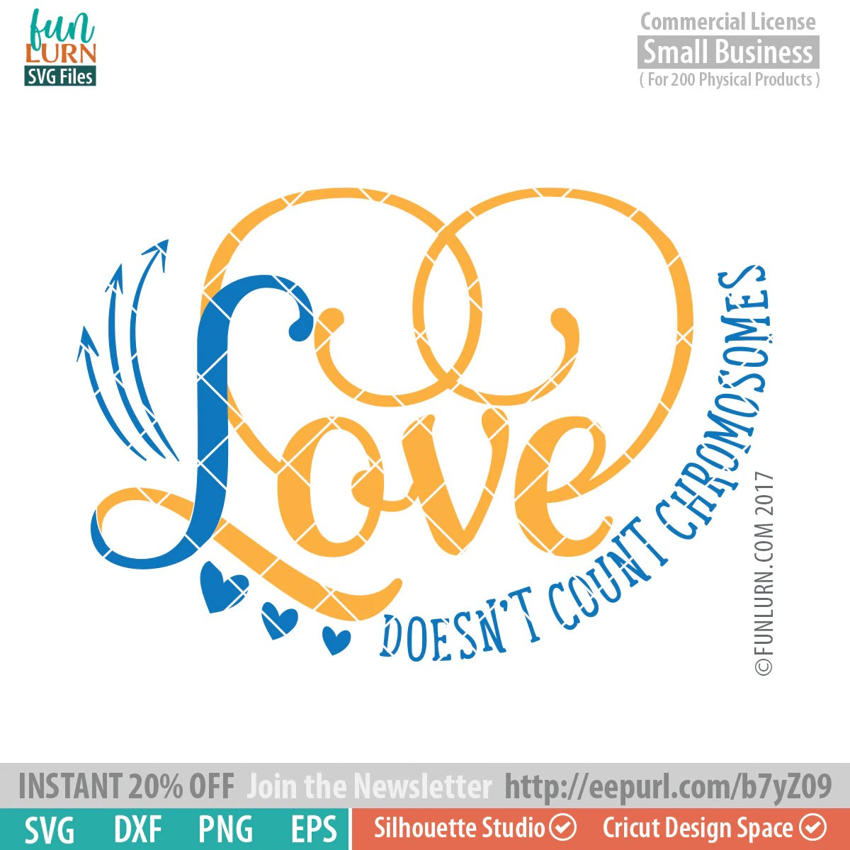 Love Doesn T Count Chromosomes Svg Down Syndrome Svg