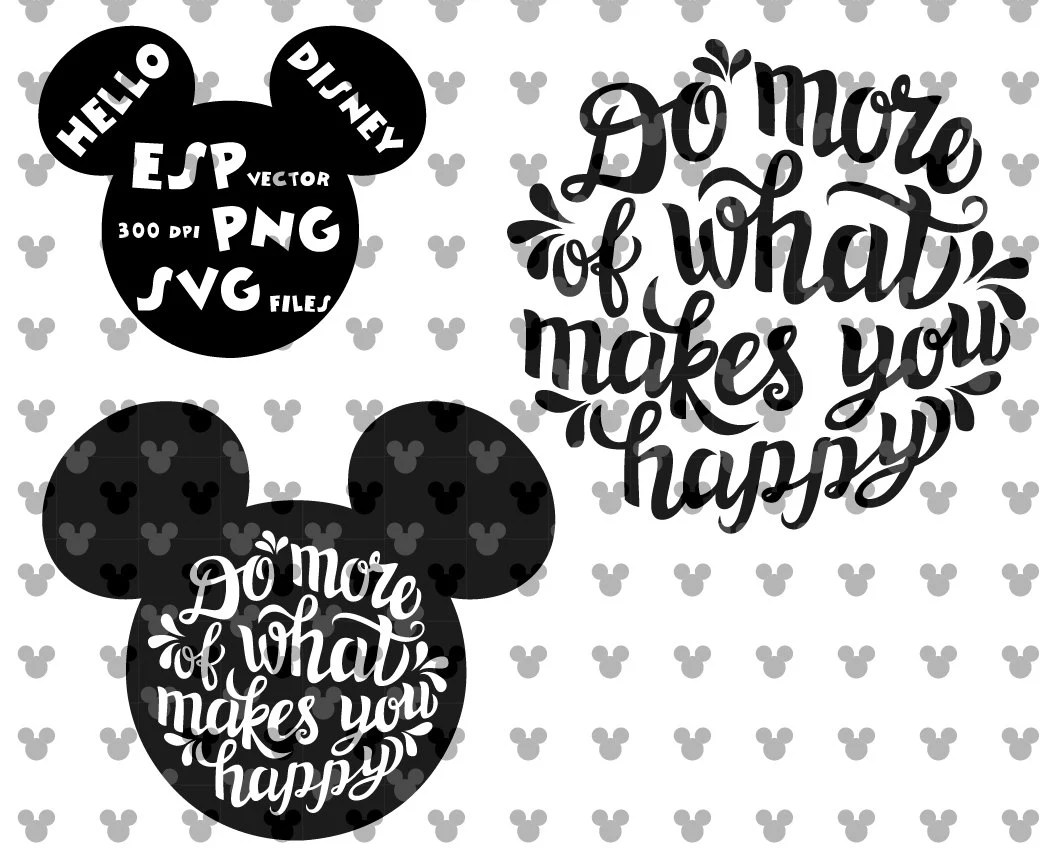 Download Do more what makes you happy SVG Clipart Disney Cut files ...