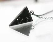 Scorpio Necklace w Swarovski Crystal Stars | Triangle Scorpio Necklace, Scorpio charm, triangle, gifts Lucky Star Dreams