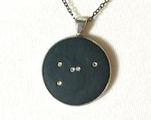 Cancer Constellation Pendant Necklace w Swarovski Crystal Stars   Lucky Star Dreams