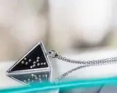 Virgo Constellation Necklace w Swarovski Crystal Stars   Virgo Trine Necklace, charm, triangle, gifts  Lucky Star Dreams