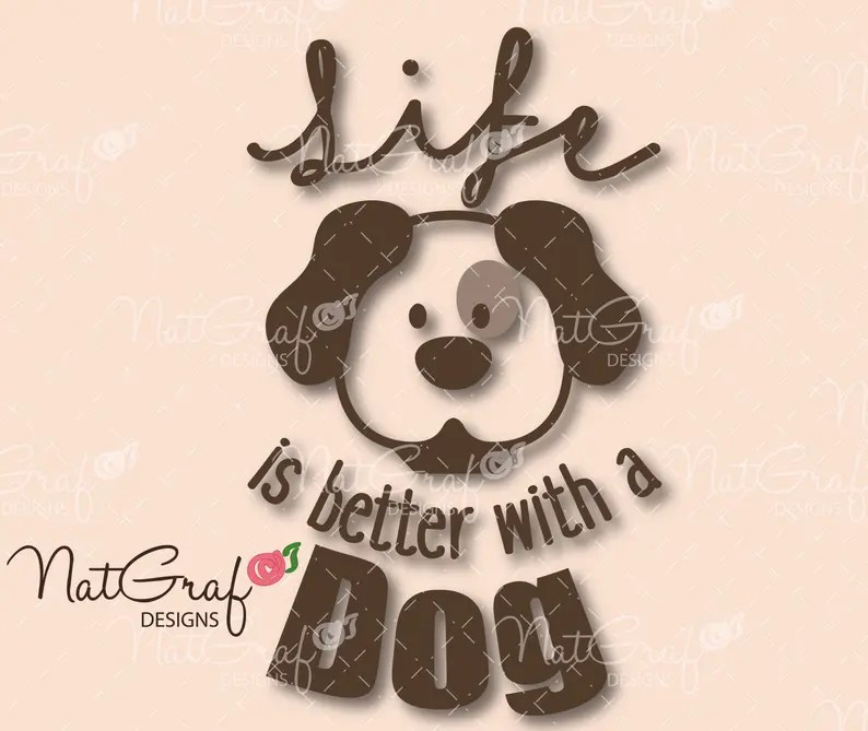 Download Dog decal svg file dog puppy love paw car decal svg   Etsy
