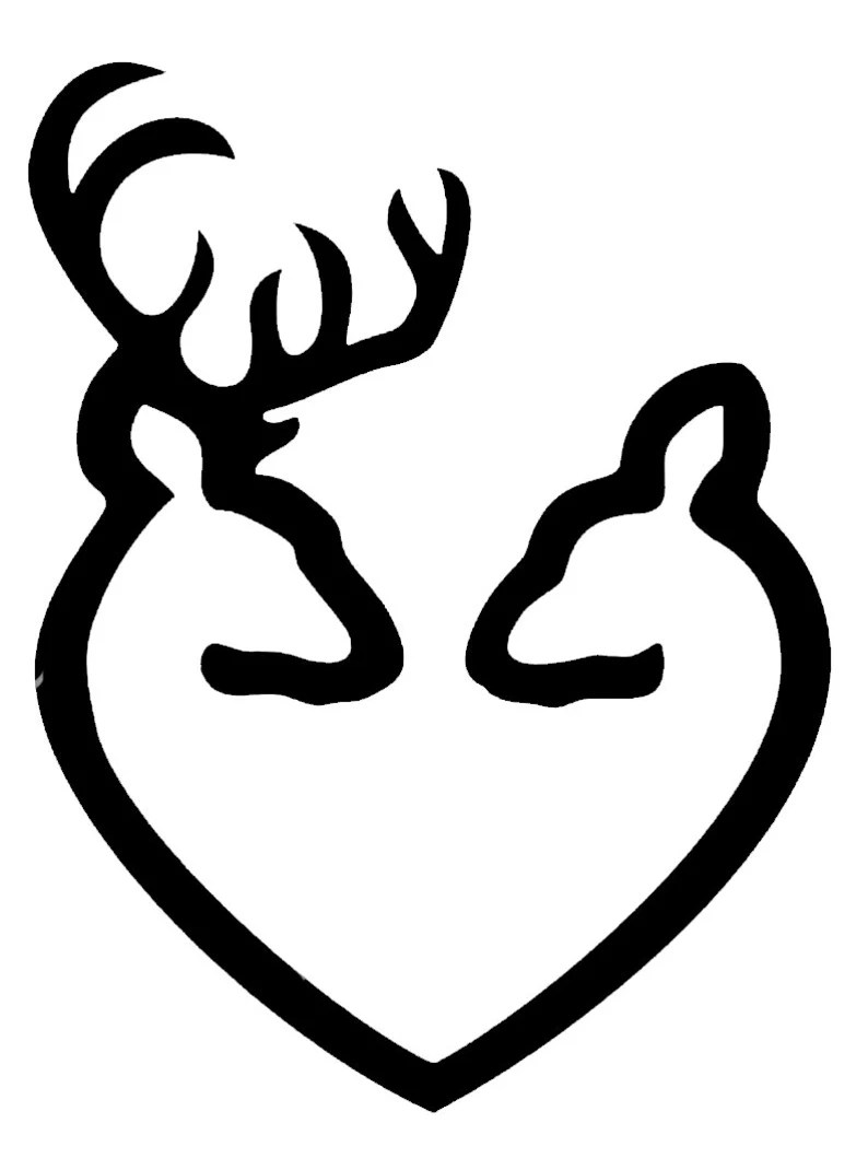 Download Buck and Doe in a Heart shape SVG file   Etsy