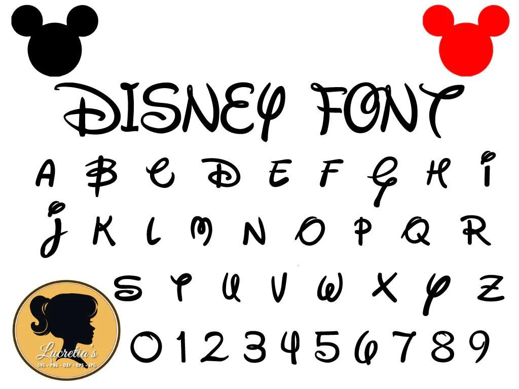 Download Disney Font Svg Instant Download Disney Cut File Font | Etsy