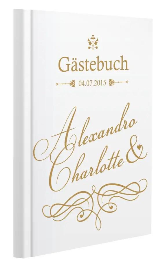 Personalisiertes Gästebuch Zur Hochzeit Motiv 23
